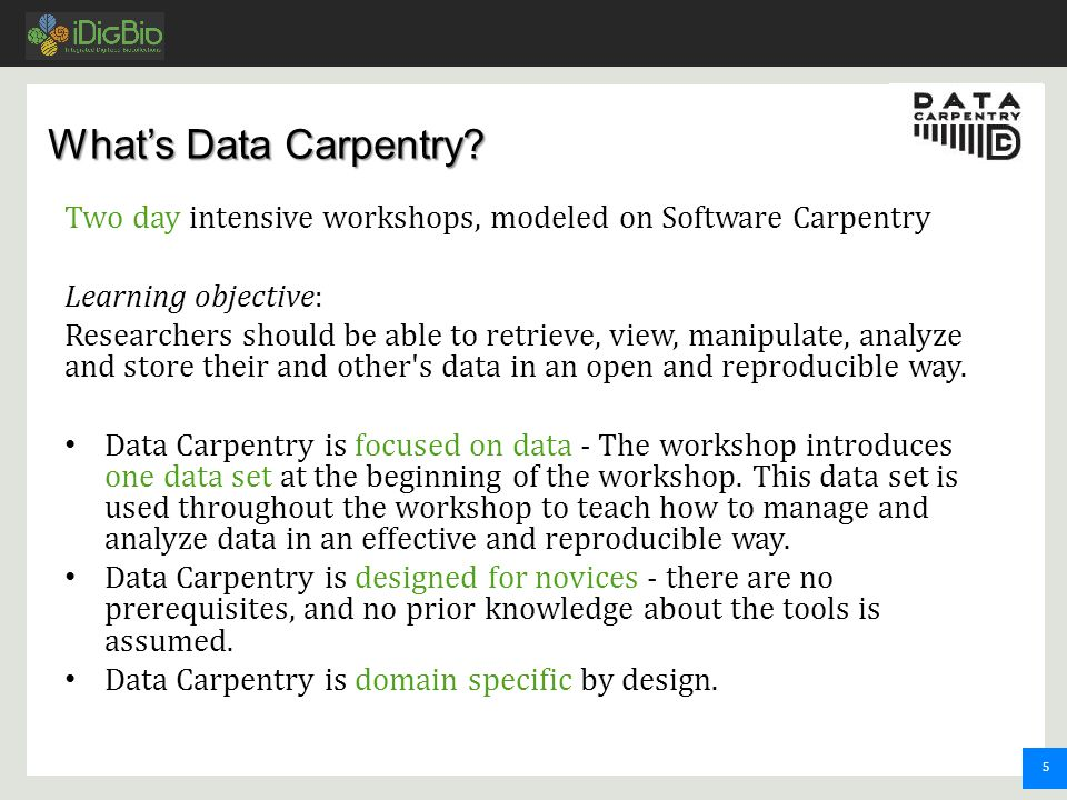 5 What's Data Carpentry.