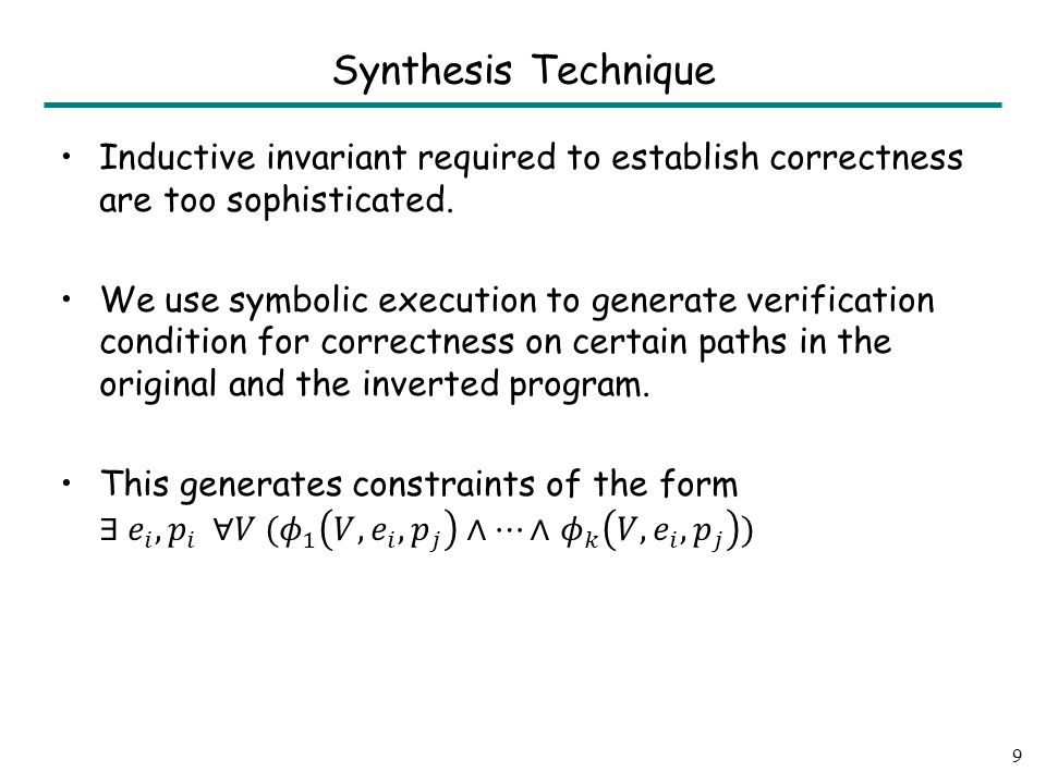 Synthesis Technique 9