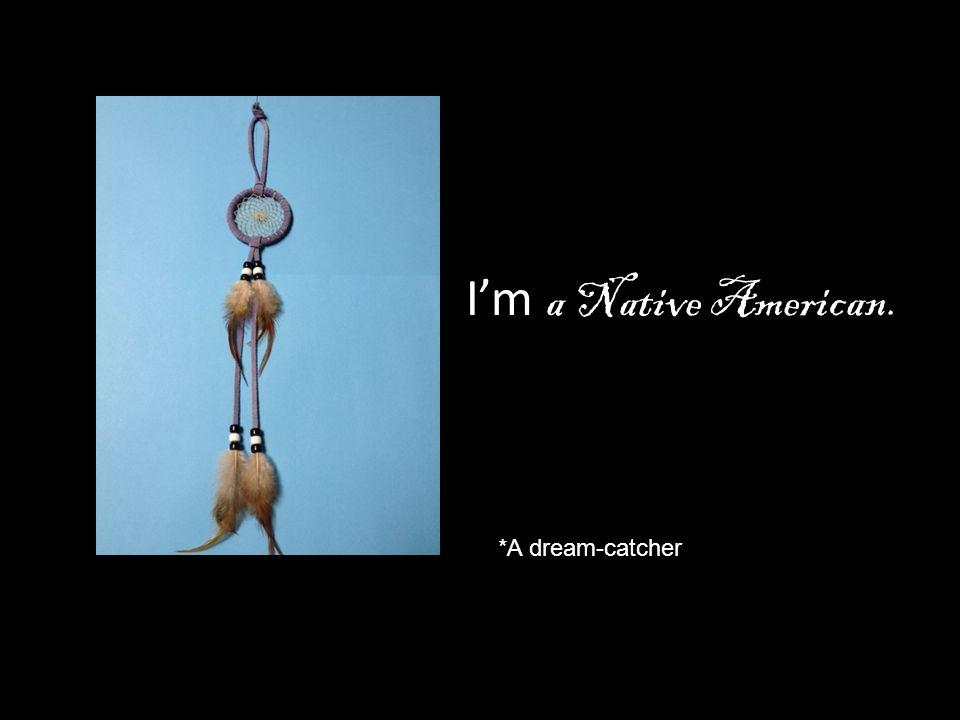 I'm a Native American. *A dream-catcher