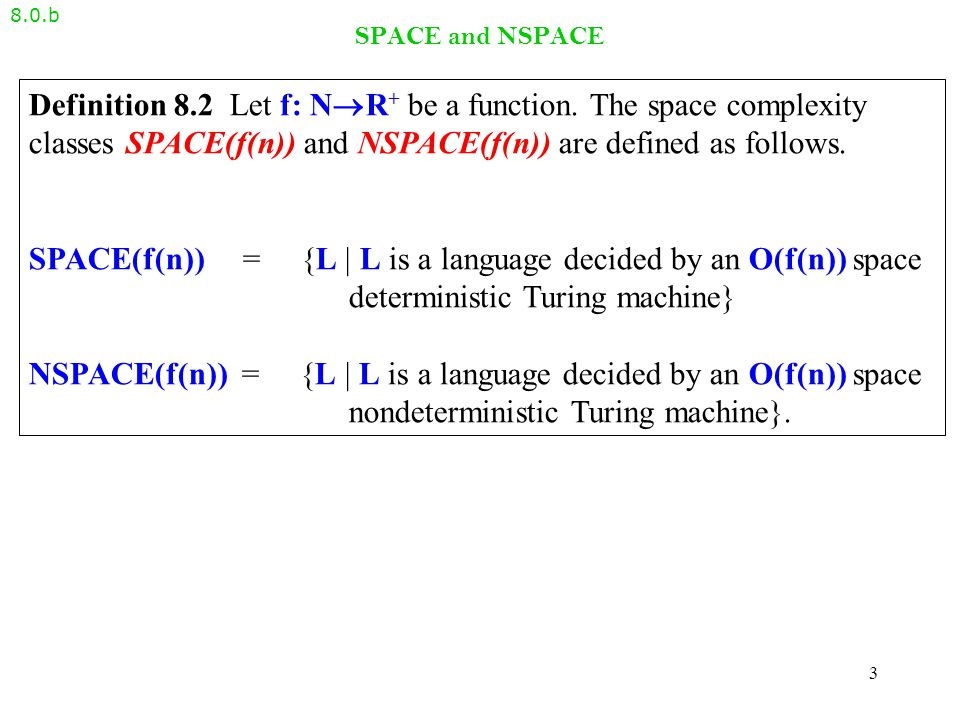 The PSPACE-completeness of TQBF – proof idea 8.3.c Theorem 8.9 TQBF is PSPACE-complete.