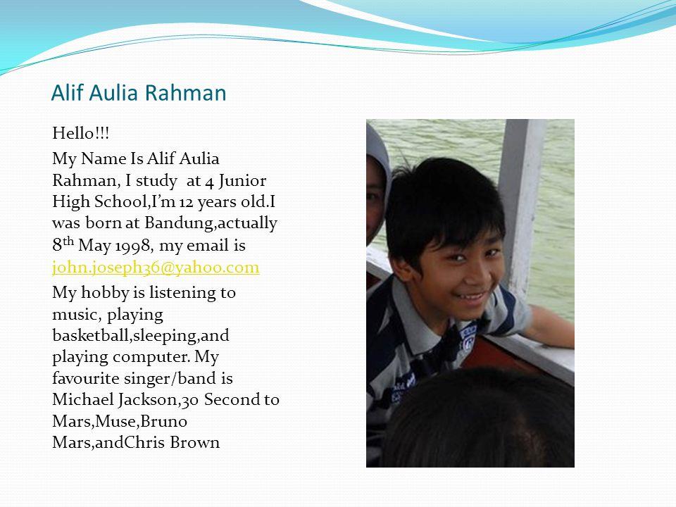 Alif Aulia Rahman Hello!!.