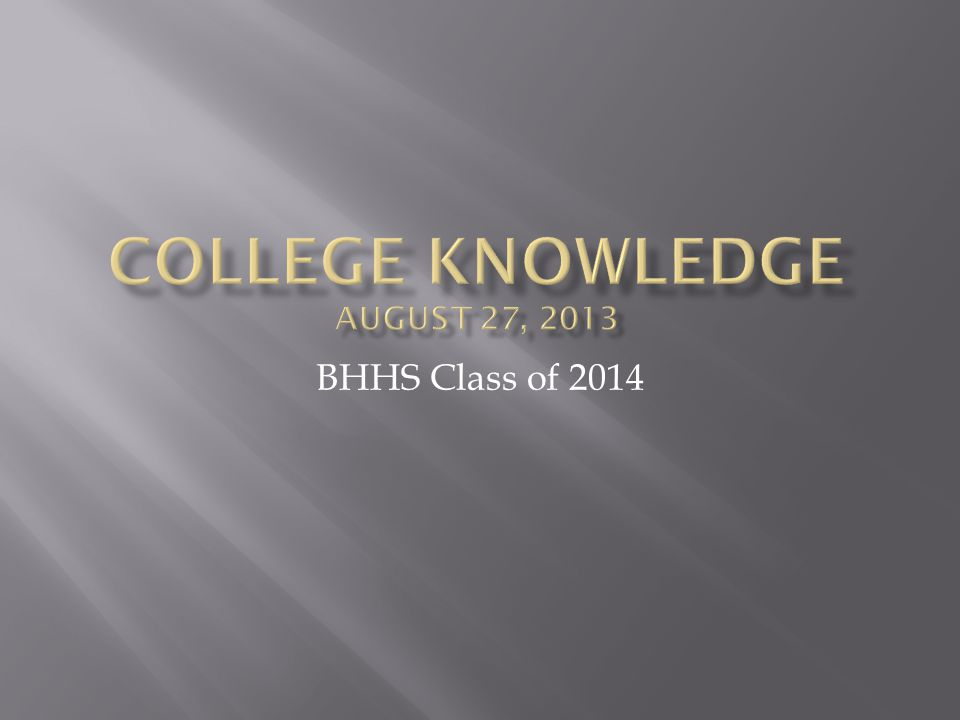 BHHS Class of 2014
