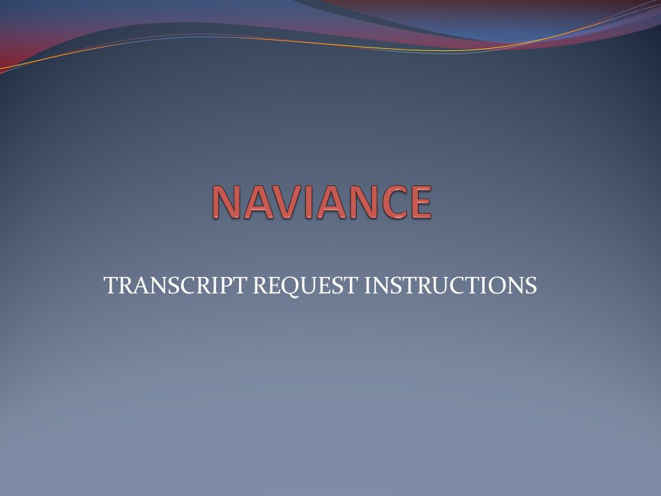 Click On Request Transcripts