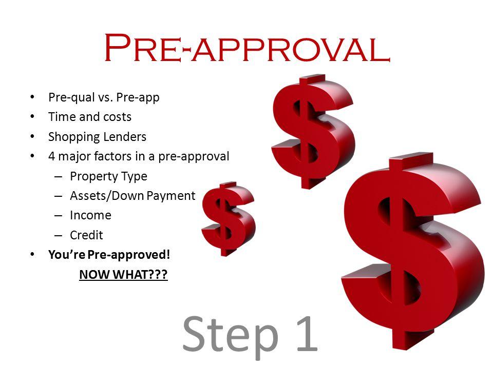 Pre-approval Pre-qual vs.