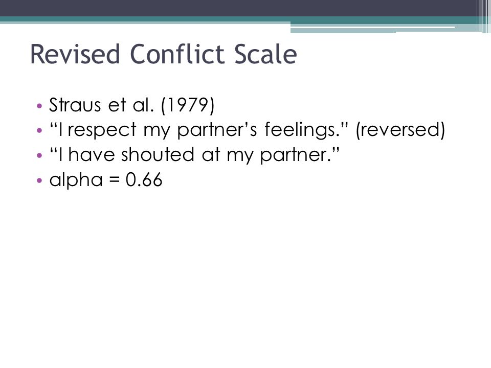 Revised Conflict Scale Straus et al.