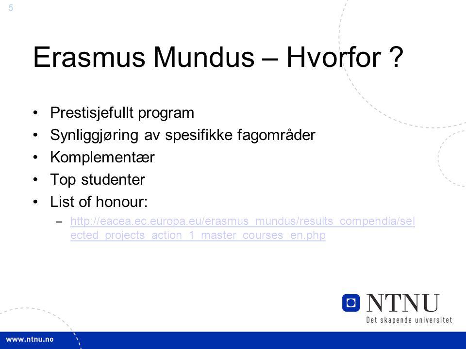 5 Erasmus Mundus – Hvorfor .