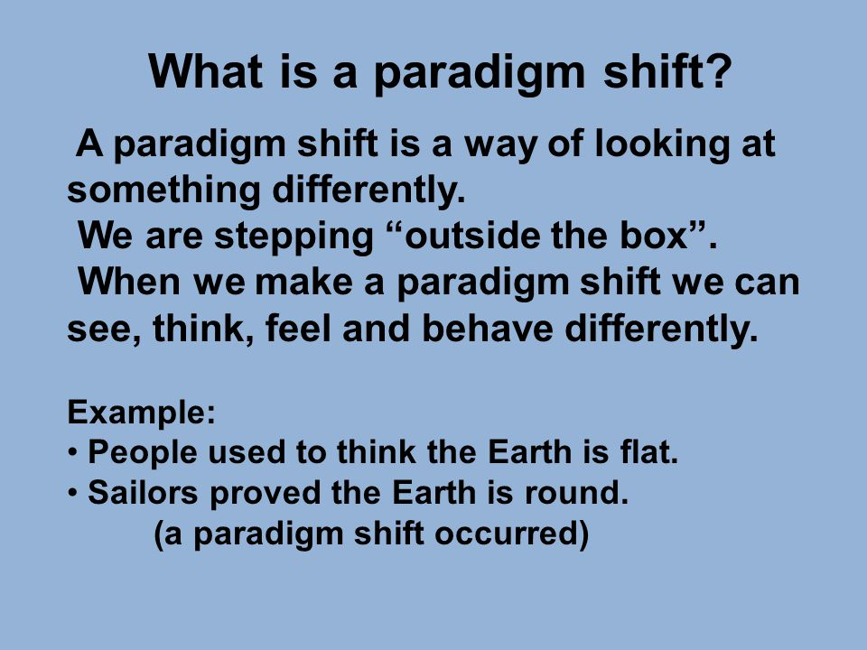 Why are paradigms harmful to us.