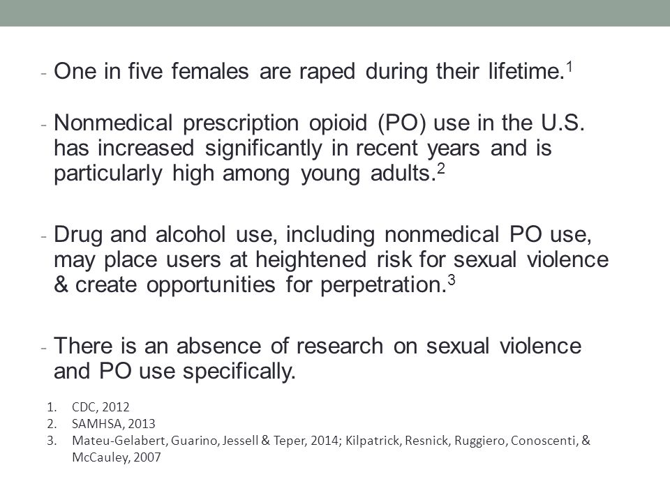 METHODS - Interviews with 46 NYC young adults who reported nonmedical PO use.