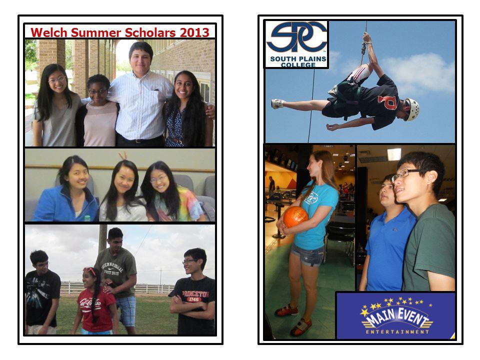 Welch Summer Scholars 2013