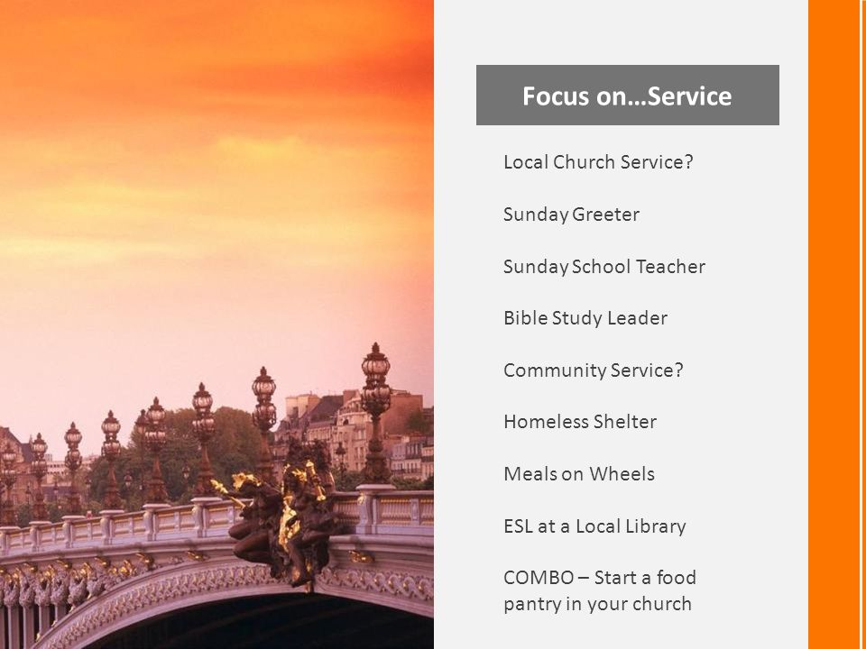 Focus on…Service Local Church Service.