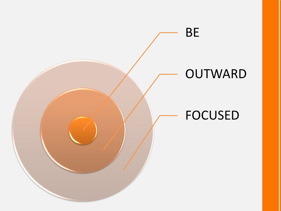 BE OUTWARD FOCUSED