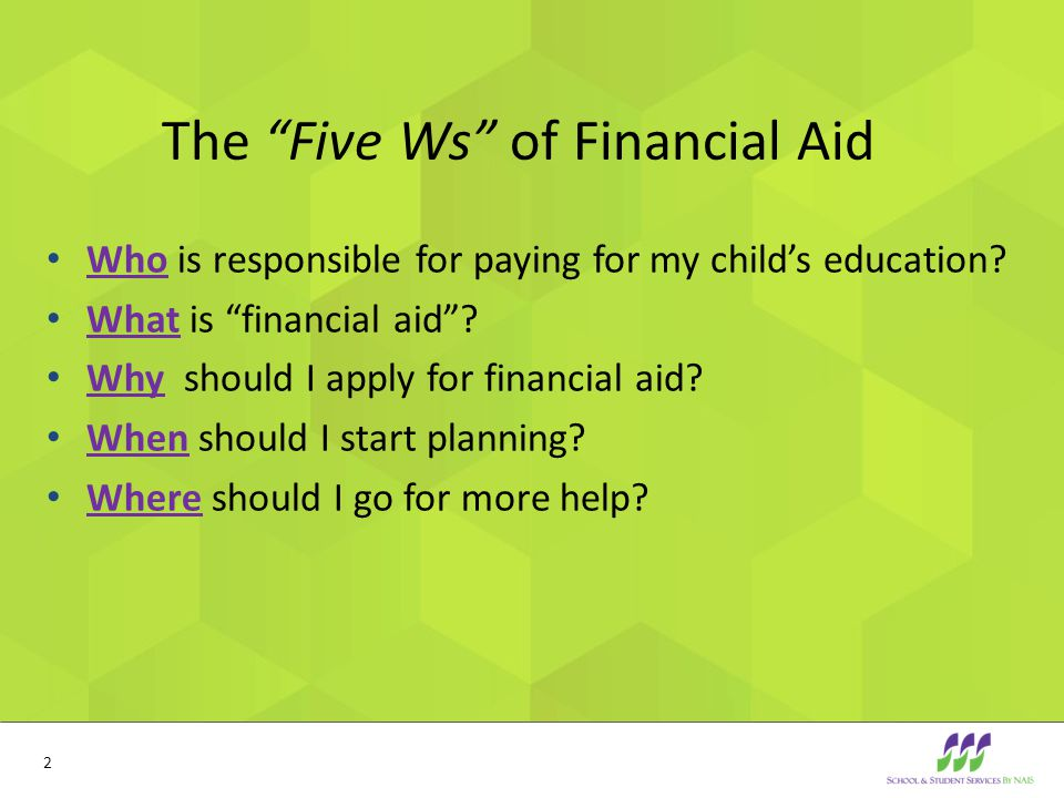 How are financial aid awards calculated?