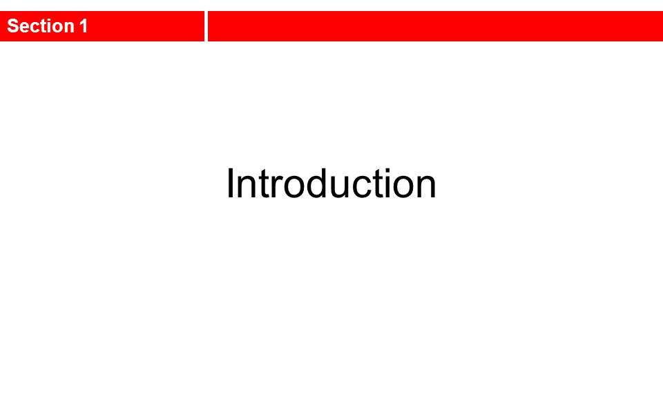 Introduction Section 1
