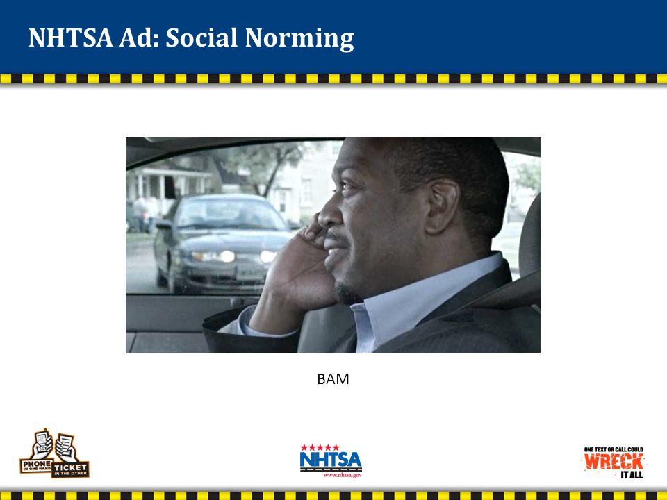 NHTSA Ad: Social Norming BAM
