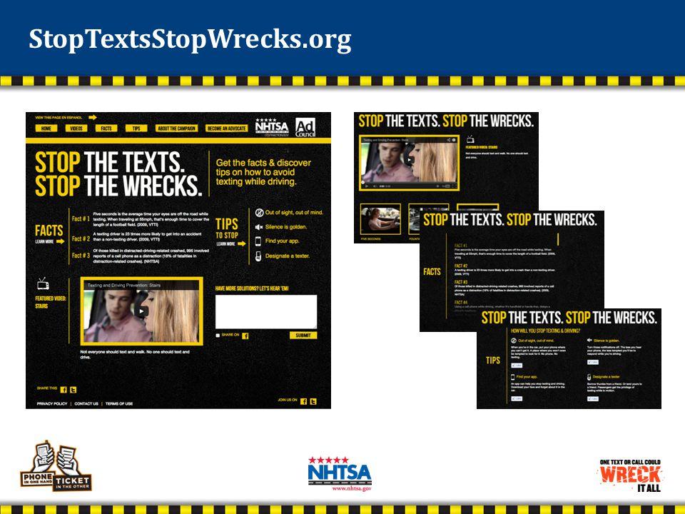 StopTextsStopWrecks.org