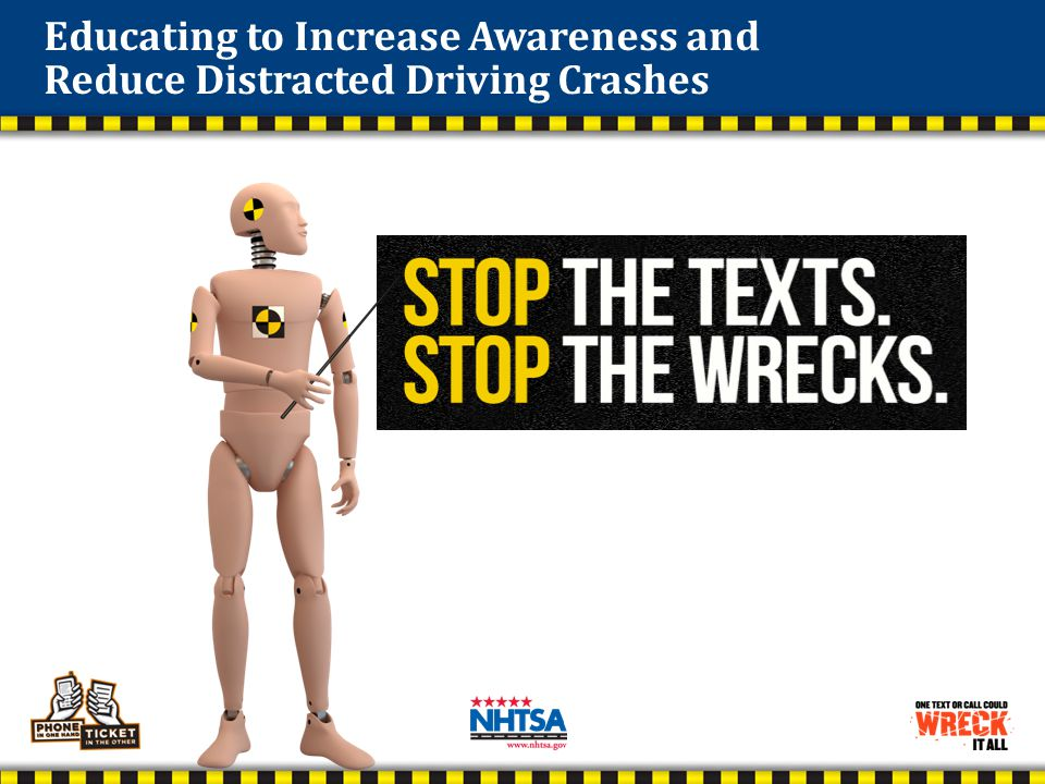 Stop the Texts. Stop the Wrecks. NHTSA & Ad Council Campaigns Pedestrian in mall