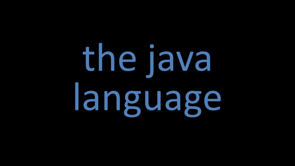 the java language