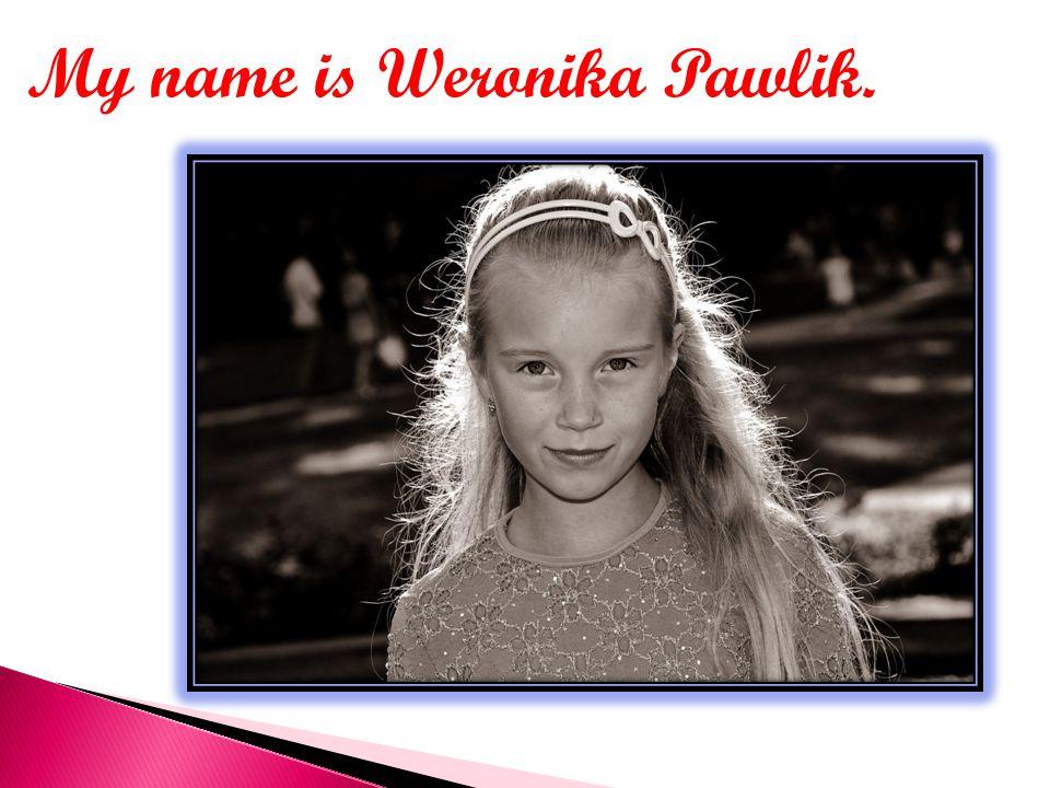 My name is Weronika Pawlik.