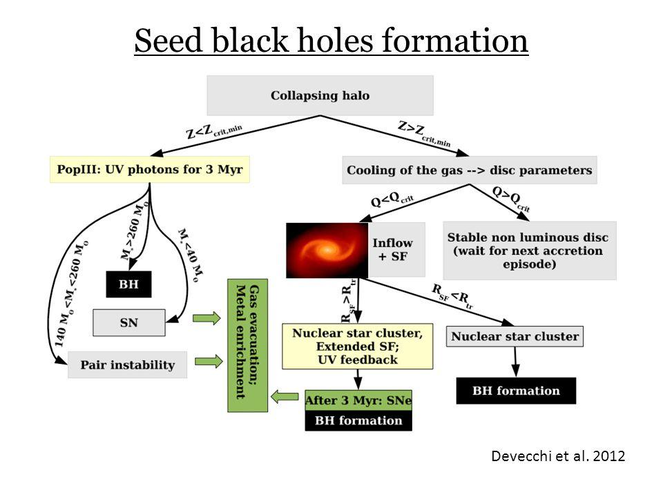 Seed black holes formation Devecchi et al. 2012