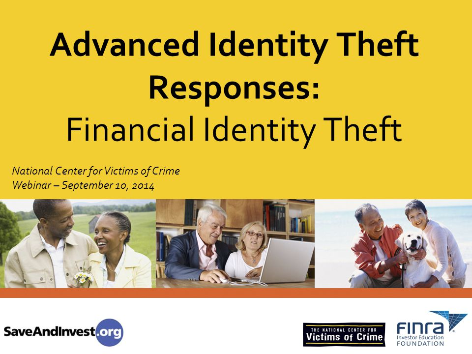 16.6 million ID theft victims in 2012; – 15.3 million – criminal misused of existing account; – 1.9 million – criminal opened a new account or other fraud Total financial losses in 2012 = $24.7 billion Recovering victims spent an average of $2,200 in out-of-pocket costs, average of 600 hours of recovery work.
