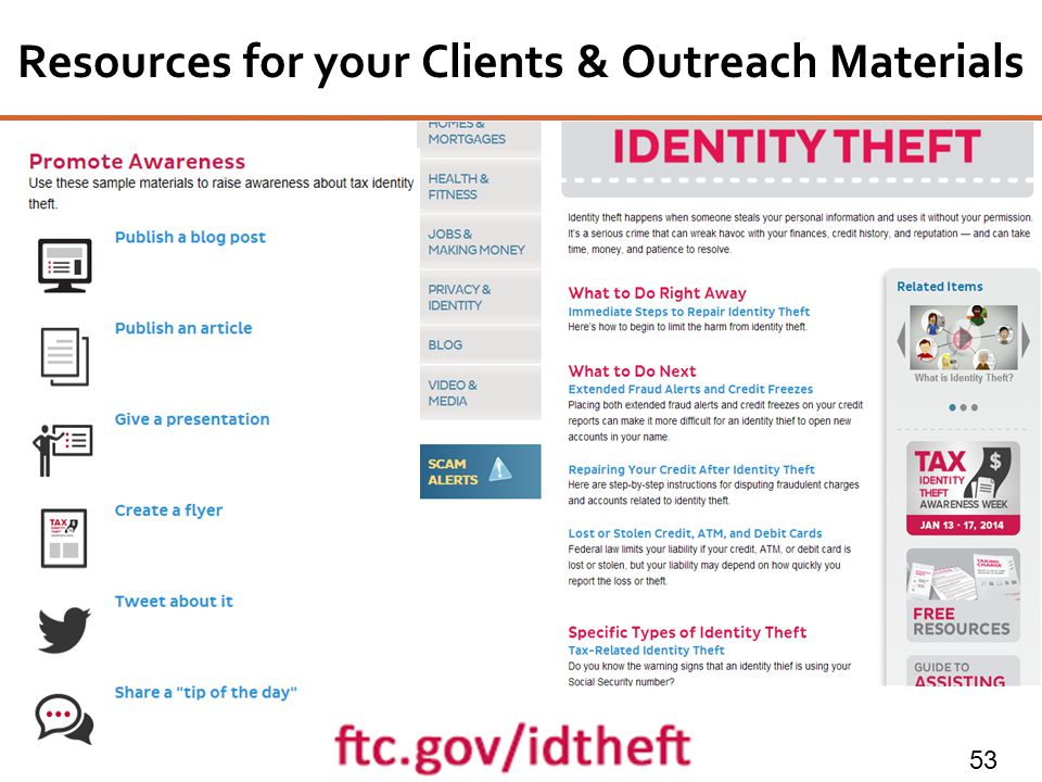 Resources for your Clients & Outreach Materials 53