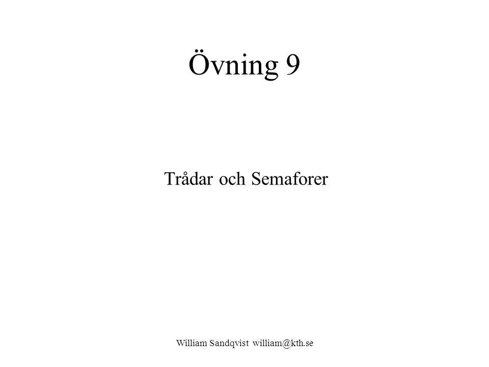 William Sandqvist william@kth.se Fifo-kö, och semaforer oslab_main.c int Fifo[FIFO_SIZE]; /* Array holding FIFO queue data.