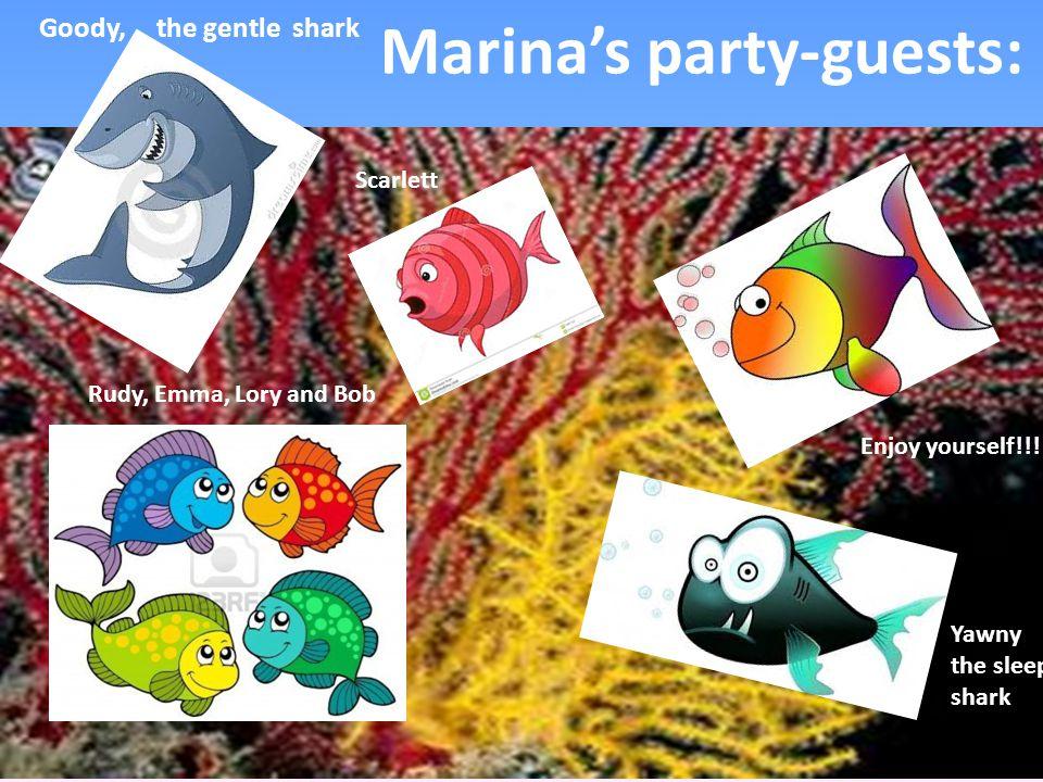 I'm Milla, the shiny fish I'm Octochef and I make Italian specialities I'm Dory, the turtle.