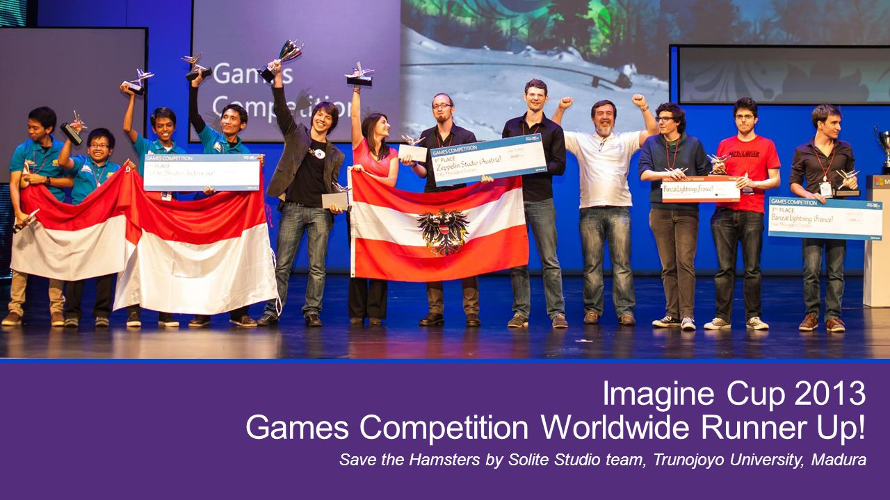 Imagine Cup 2013 Games Competition Worldwide Runner Up! Save the Hamsters by Solite Studio team, Trunojoyo University, Madura