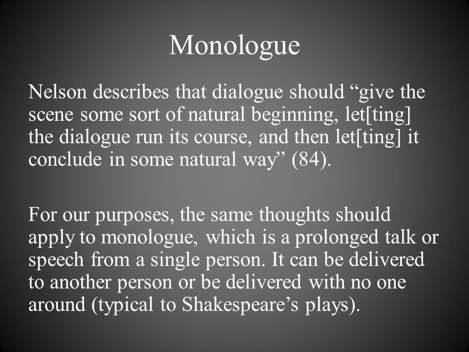 Monologue Examples: Television and Movies