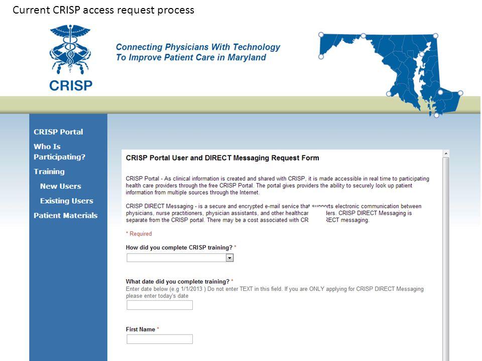 Current CRISP access request process