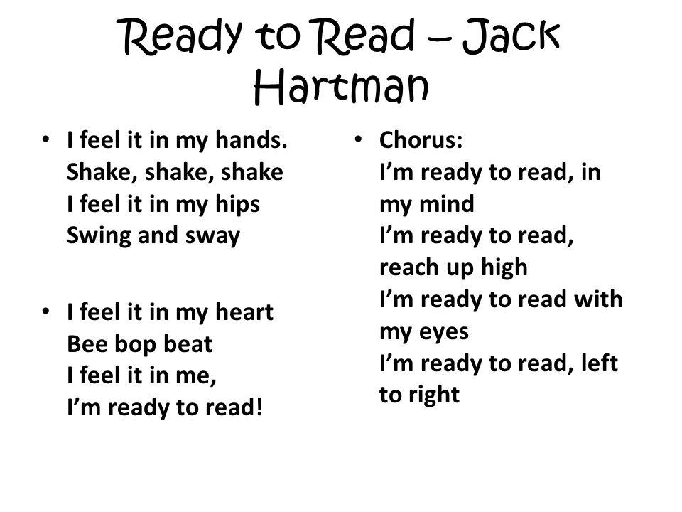 Ready to Read – Jack Hartman I feel it in my hands.