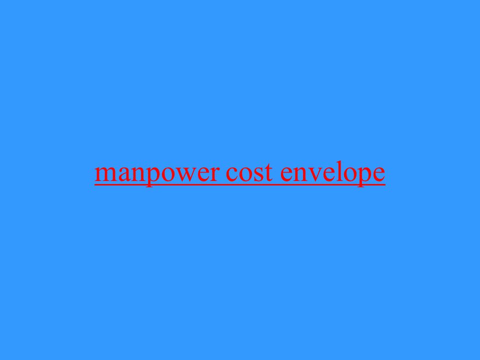 manpower cost envelope