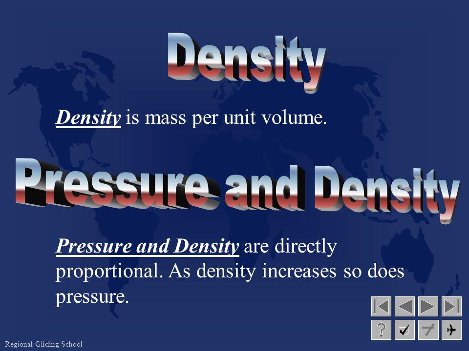 Regional Gliding School Density is mass per unit volume.