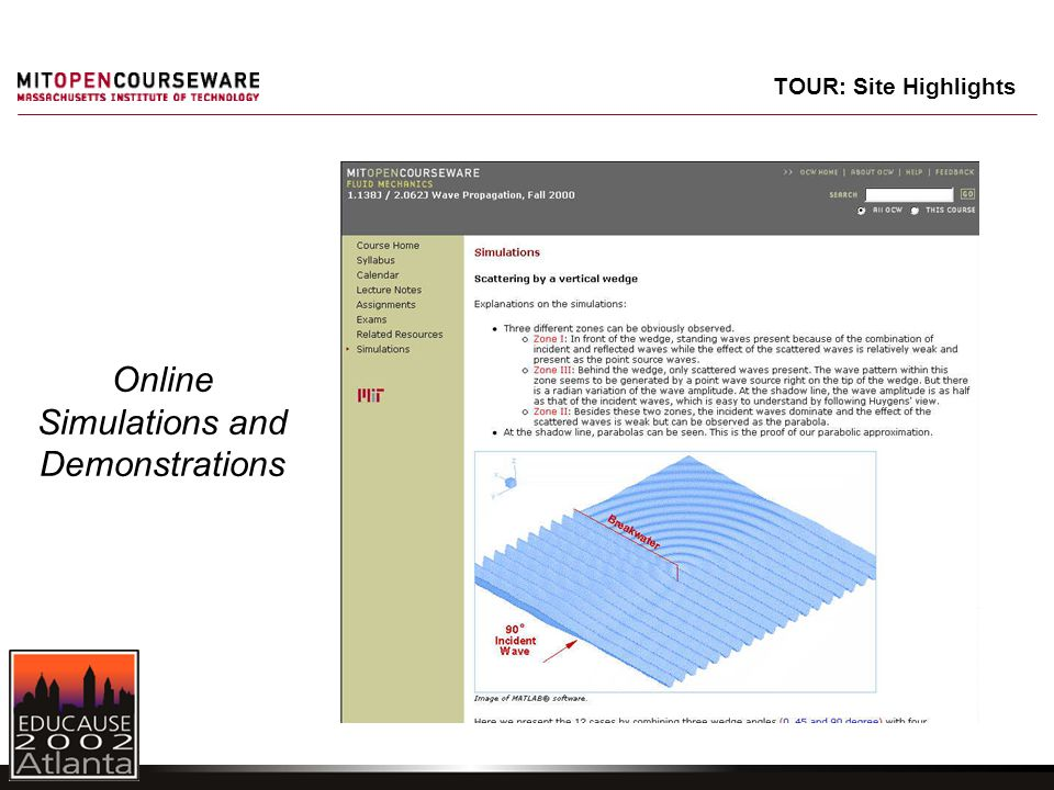 Online Simulations and Demonstrations TOUR: Site Highlights