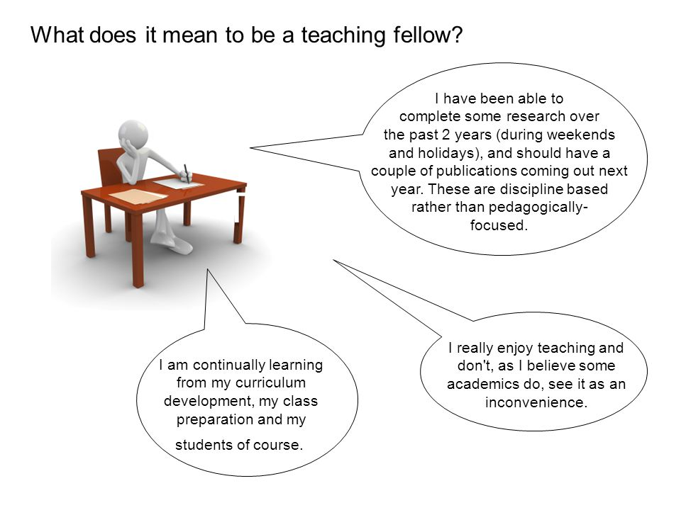 TF comments 2 What does it mean to be a teaching fellow.