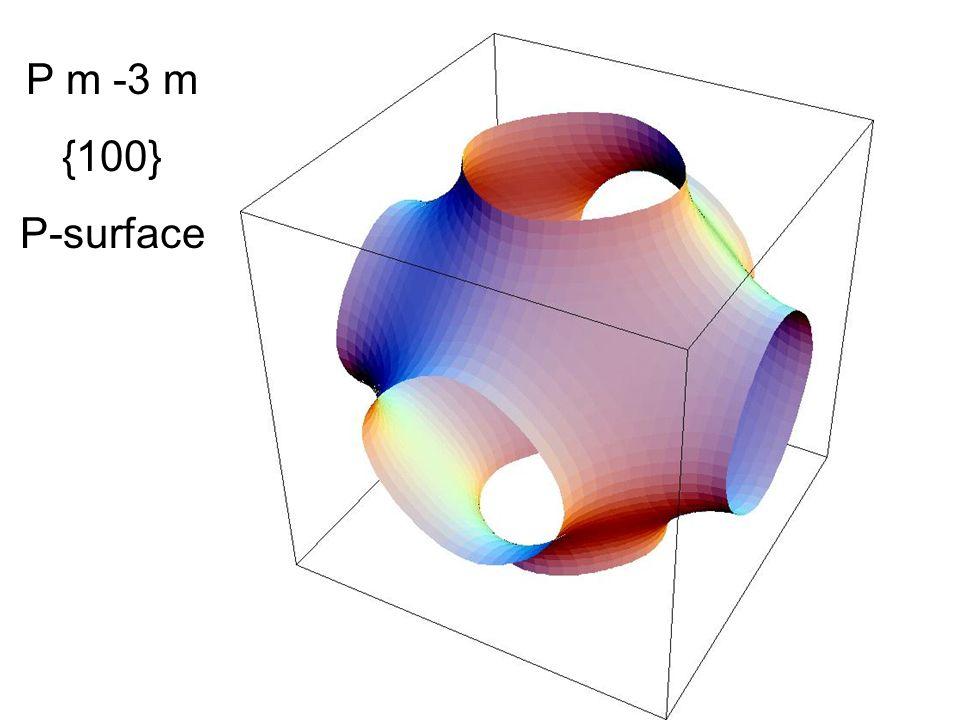 P m -3 m {100} P-surface