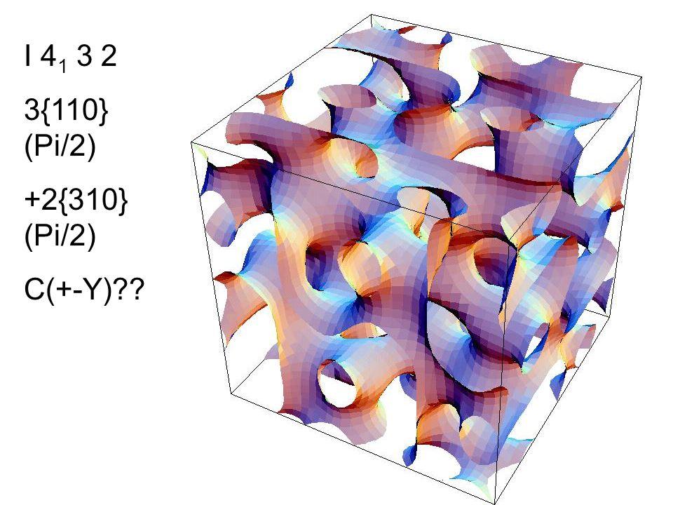 I 4 1 3 2 3{110} (Pi/2) +2{310} (Pi/2) C(+-Y)??