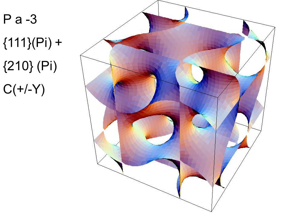 P a -3 {111}(Pi) + {210} (Pi) C(+/-Y)