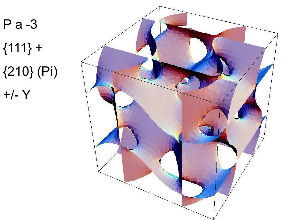 P a -3 {111} + {210} (Pi) +/- Y