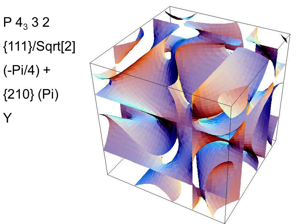 P 4 3 3 2 {111}/Sqrt[2] (-Pi/4) + {210} (Pi) Y