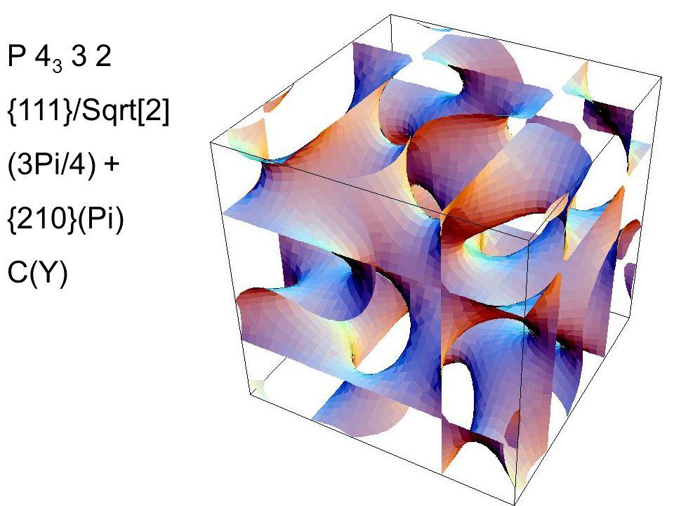 P 4 3 3 2 {111}/Sqrt[2] (3Pi/4) + {210}(Pi) C(Y)