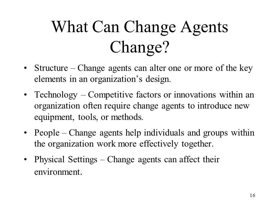 16 What Can Change Agents Change.