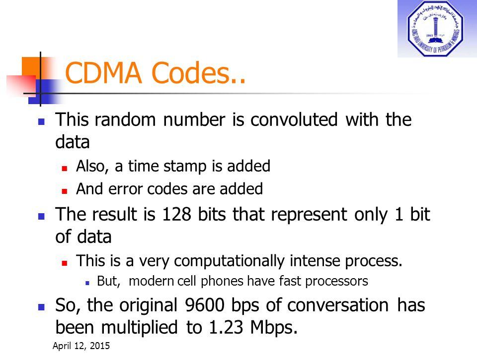 CDMA Codes..