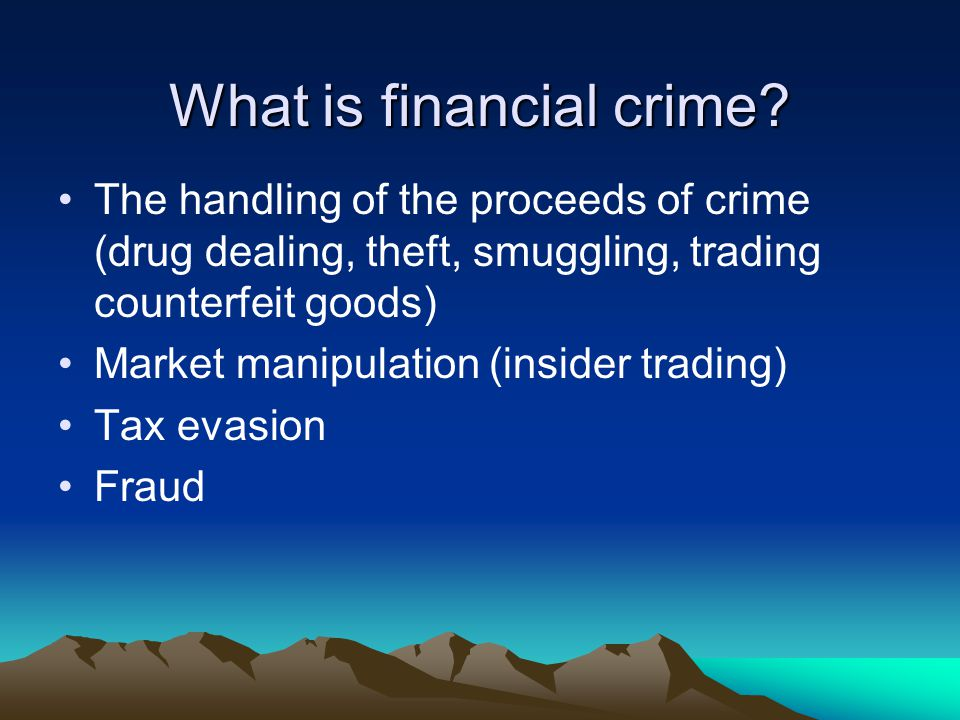 Financial investigators Agency Financial Investigators Police 1417 London Police 496 SOCA 246 Tax & Customs 270 Local Gov 105 Social Welfare 24 Serious Fraud 16 Financial Services 11 Other Gov37 Total 2622 UK only