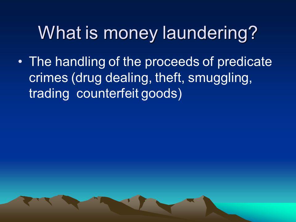 Tackling crime Crime Proceeds of Crime Money Laundering