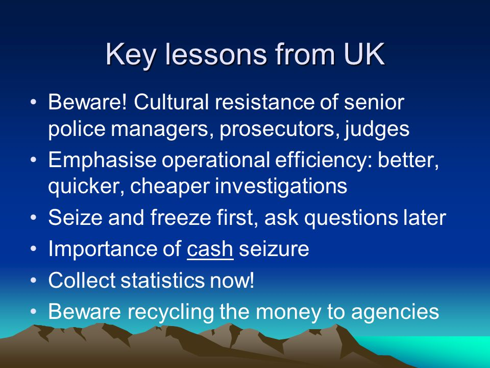 Key lessons from UK Beware.