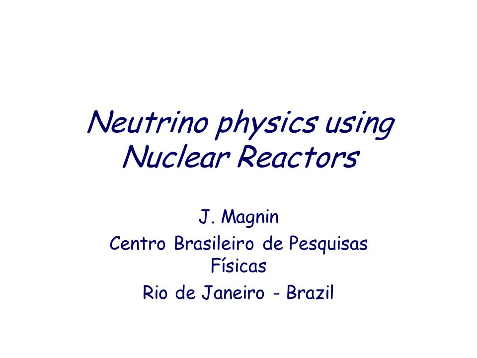 Neutrino physics using Nuclear Reactors J.