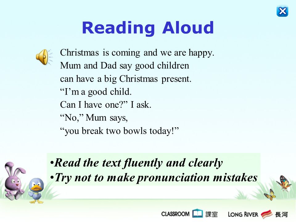 Reading Aloud (4 marks)