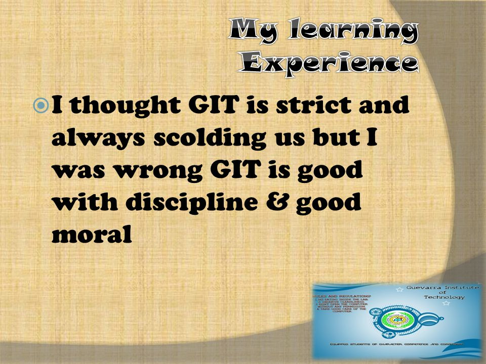  They say GIT is bad… They just don't know..They judge GIT and yet they don't know what s the schools E-Learning