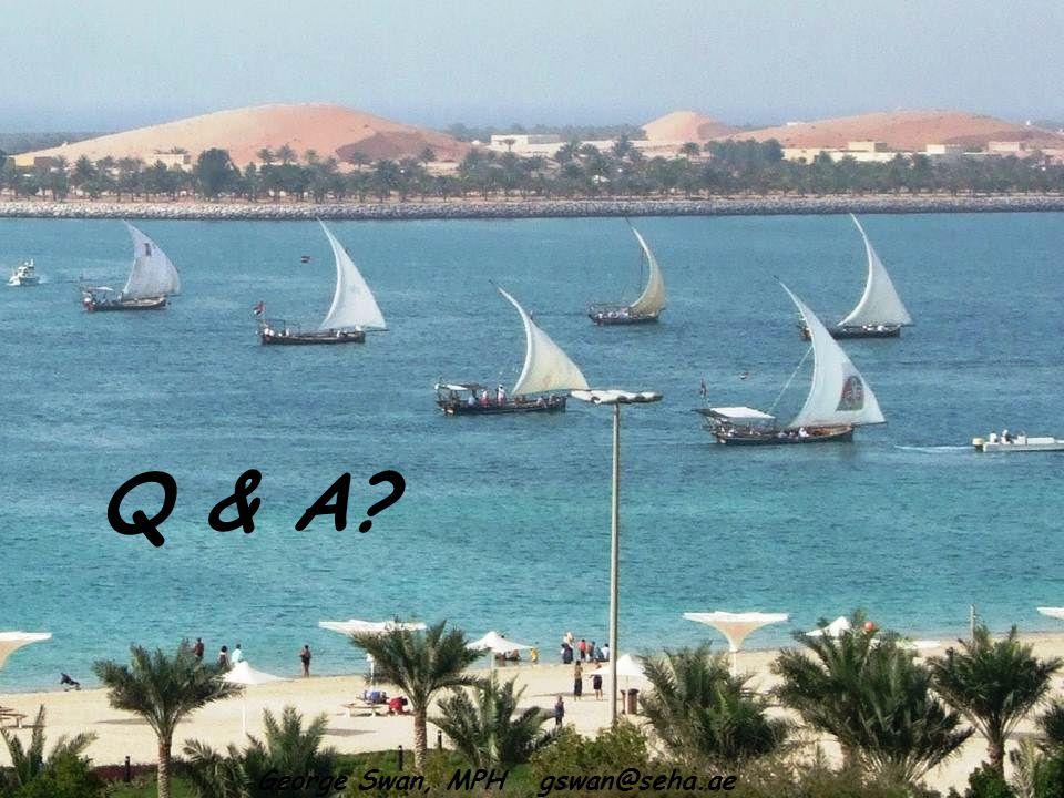 Q & A George Swan, MPH gswan@seha.ae